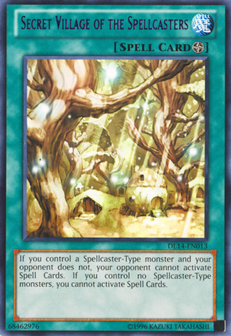 Secret Village of the Spellcasters - Purple - DL14-EN013 - Rare - Unlimited Edition